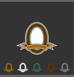 vintage emblem logo template vector image
