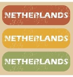 Vintage Netherlands stamp set vector