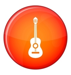 Classical guitar icon flat style vector image vector image