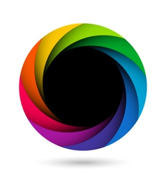 Colorful camera shutter aperture vector image vector image