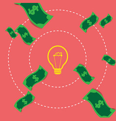 concept ideas and innovation exchange money vector image