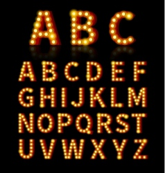 Lightbulb font vector image