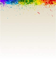 paint splashes artwork vector image