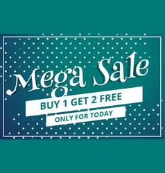 Abstract mega sale discount voucher template vector