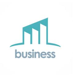 business progress logo vector image vector image
