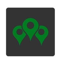 Locations Icon vector image vector image
