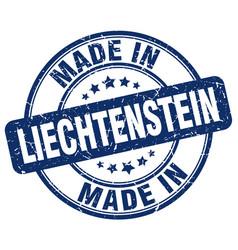 made in liechtenstein blue grunge round stamp vector image