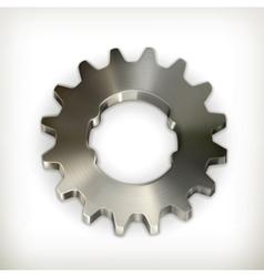 Metal gear icon vector image vector image