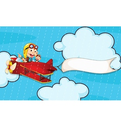 monkey in airplane vector image