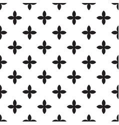 abstract seamless pattern mosaic of black vector image vector image