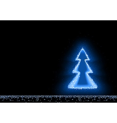 Blue Glowing Christmas Tree vector image vector image