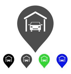 car garage marker flat icon vector image vector image
