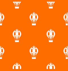 old fashioned helium balloon pattern seamless vector image vector image