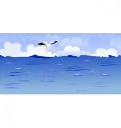 seascape vector image