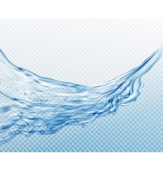 Transparent water splashes drops isolated on vector image