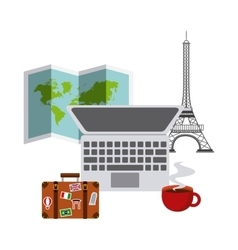 travel and cities design vector image