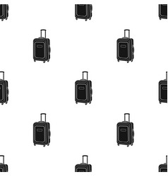travel luggage icon in black style isolated on vector image