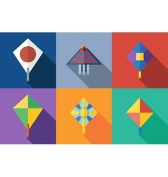 Flat icon kite vector image