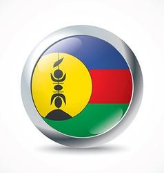 New Caledonia flag button vector image