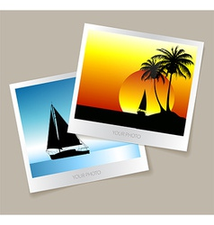 Set of colorful photos from the holidays vector image