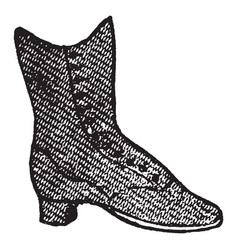 A kind of shoe vintage engraving vector