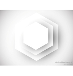 Abstract background with gray hexagons vector