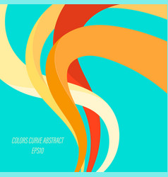 Abstract colors curve vector