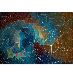 abstract hud background with triangles of blue vector image