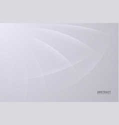 Abstract white background with smooth lines vector