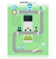 Airport information infographic board vector image