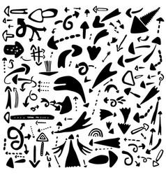 Arrows sign and symbols - icon set design vector