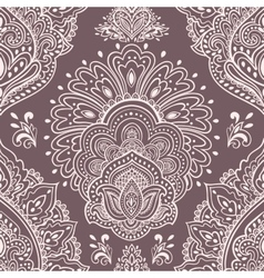Beautiful Indian floral seamless ornament Ethnic vector