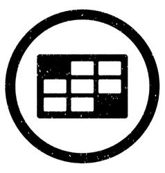 Calendar Table Rounded Grainy Icon vector
