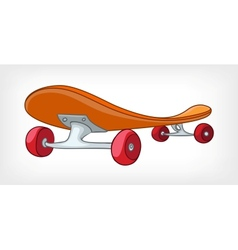 cartoon skateboard vector image