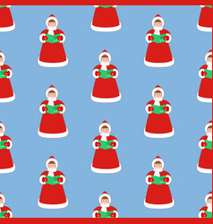 christmas carols singer pattern vector image