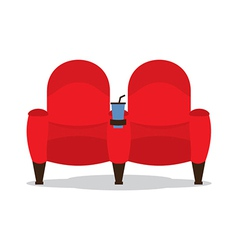 Cinema Seats For Lovers vector image