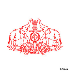 Coat arms kerala is a indian region emblem vector