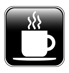 Coffee button vector image