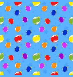 color seamless pattern of red orange blue vector image