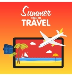 Colorful flat travel banner Quality design vector