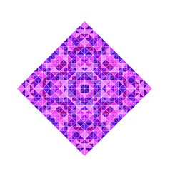 Colorful isolated ornate geometrical triangular vector