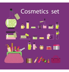 cosmetic set vector image
