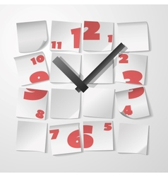 Creative clock with digits vector