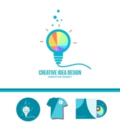Creative idea light bulb genius concept vector image