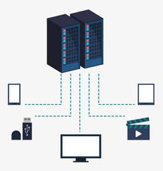 Data center server equipment storage information vector