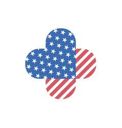 decorative isolated logo of usa flag vector image