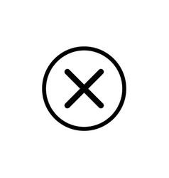 Delete sign icon remove button black vector