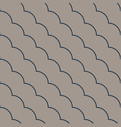 Diagonal ruffle lines seamless pattern vector