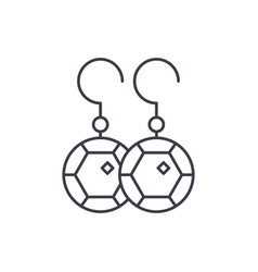 Earring line icon concept earring linear vector