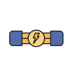 Electric fuse icon symbol electronic isolated on vector